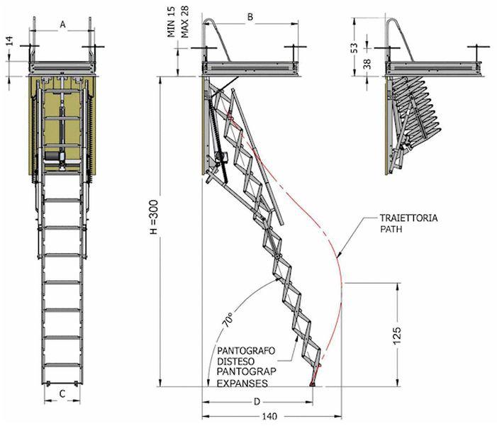 Scala retrattile telecomandata motorizzata apertura elettrica vendita on line - Scale a botola da soffitto ...