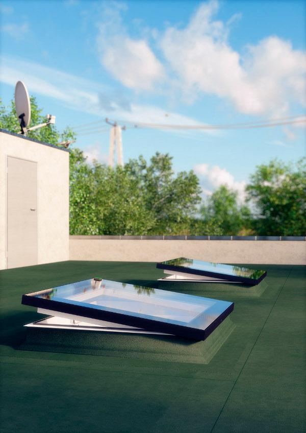 Finestra da tetto piano fakro vendita online for Velux finestre per tetti piani