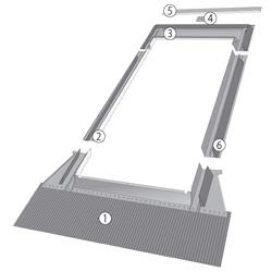 Raccordo ehn alluminio per coperture ondulate forti sagomature for Finestre velux 55x98