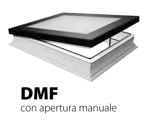 Finestra da tetto o terrazzo piano dxf fakro vendita online for Velux finestre per tetti piani