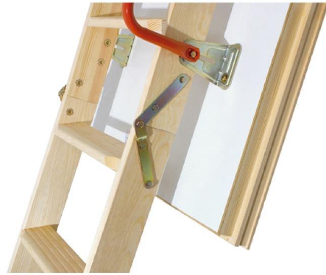 Scala retrattile a pezzi con scalini di legno modello ltk - Scale in legno fai da te ...