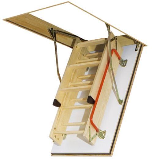 Vendita scala retrattile a pezzi con scalini di legno for Scala retrattile bricoman