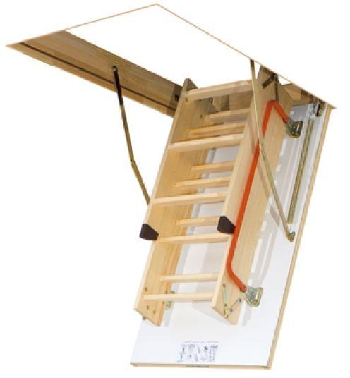 Scala retrattile a pezzi con scalini di legno modello lwk for Coprigradini per scale in legno ikea