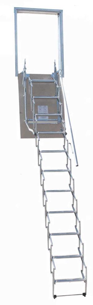 Scala retrattile a parete verticale personalizzata vendita diretta ...