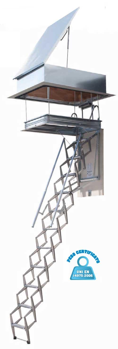 Scale Retrattili top finish per terrazzo, scala botola, scala ...