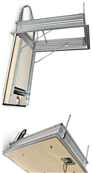 Scala retrattile a pantografo per terrazzo, scala botola, scala ...