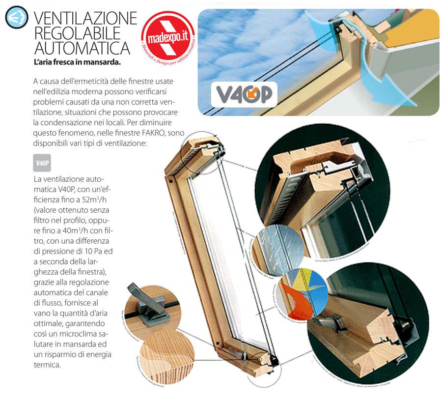 Finestra da tetto fyp v u3 prosky pino naturale apertura for Finestre fakro
