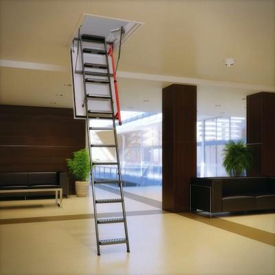 scala retrattile terrazzo