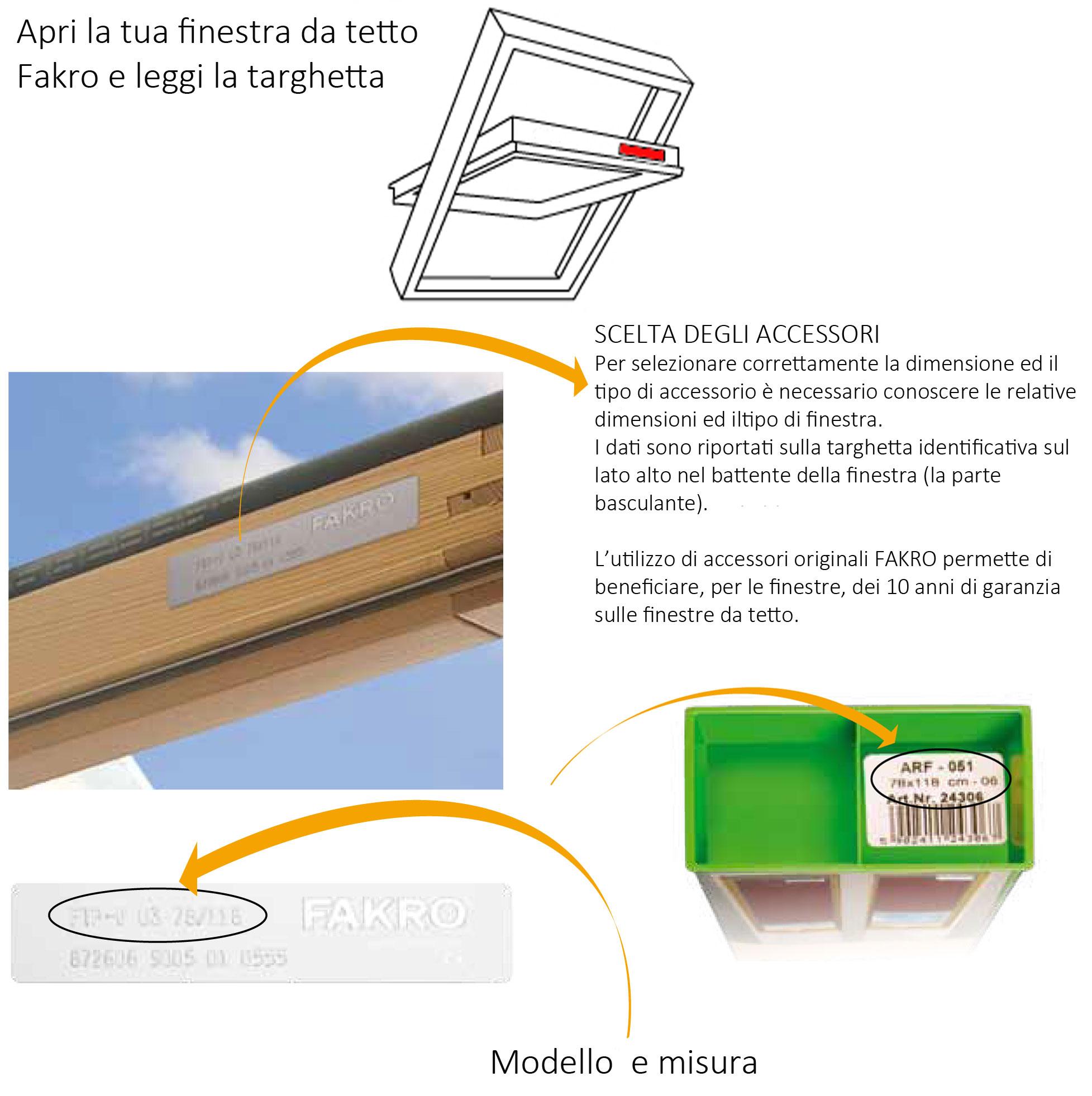 Tenda tende ed accessori fakro originali vendita online for Finestre fakro