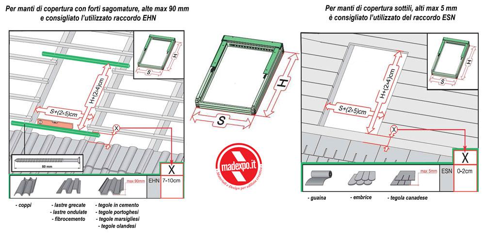 Finestra da tetto su misura fuori standard personalizzata for Finestre dimensioni