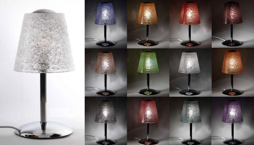 Lampada in vetro lampari artigianali sospensioni in for Lampade vendita